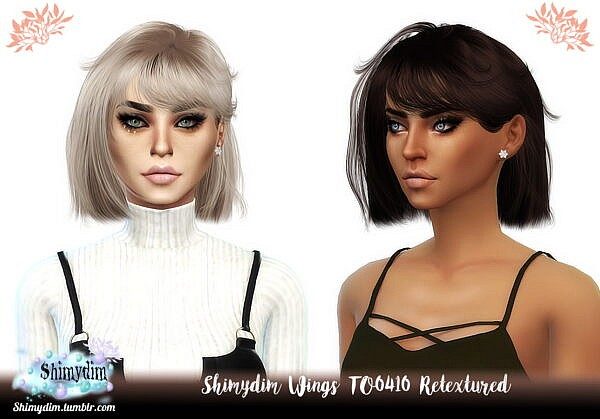 Wings TO0410 Hair Retextured ~ Shimydim for Sims 4