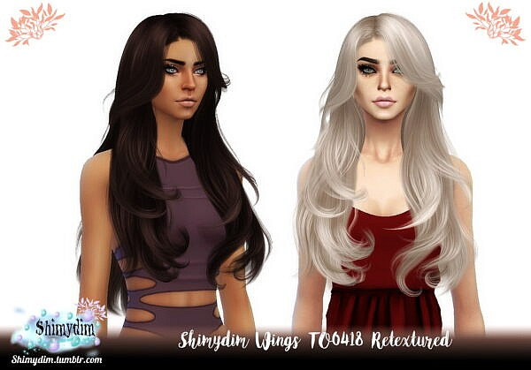 Wings TO0418 Hair Retexture ~ The Sims Resource for Sims 4