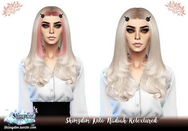 Anto`s Nadiah Hair Retextured ~ Shimydim for Sims 4
