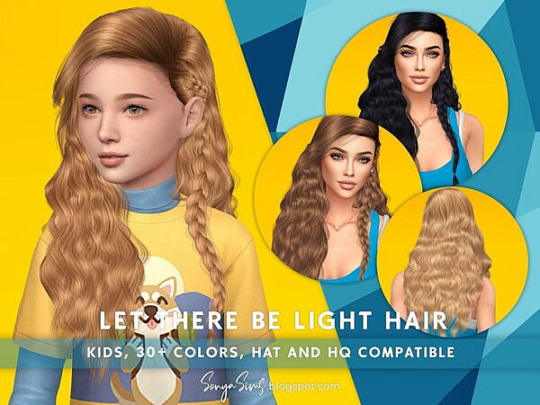 Let There be Light Hair ~ Sonya Sims for Sims 4
