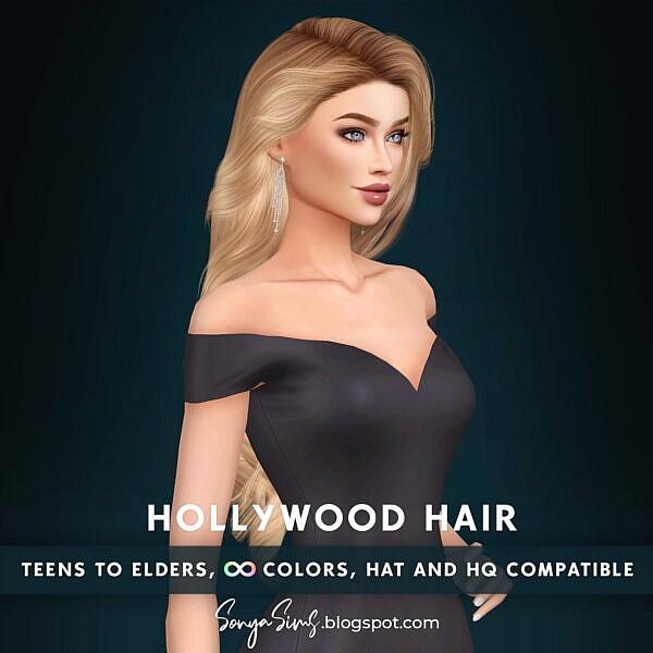 Hollywood Hair ~ Sonya Sims for Sims 4
