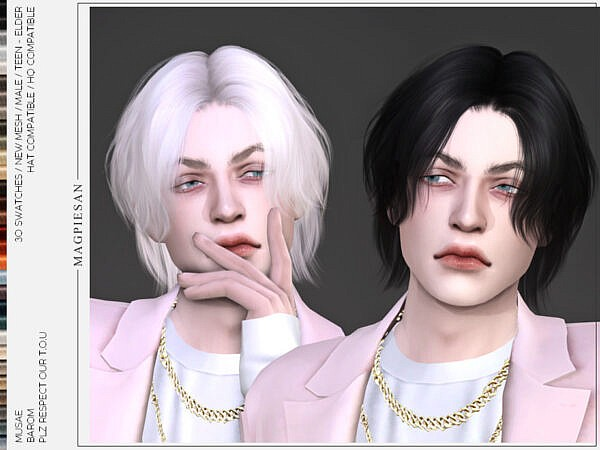 Barom Hairstyle by magpiesan ~ The Sims Resource for Sims 4