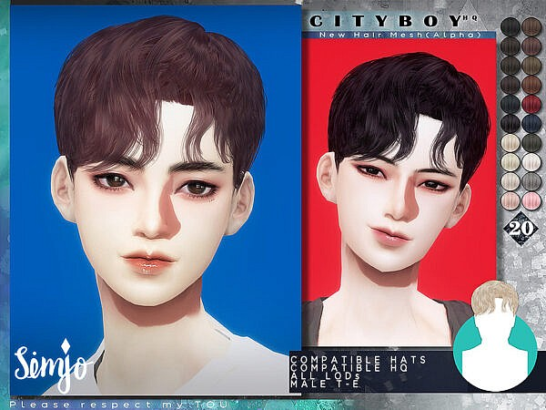 Cityboy Hairstyle by KIMSimjo ~ The Sims Resource for Sims 4