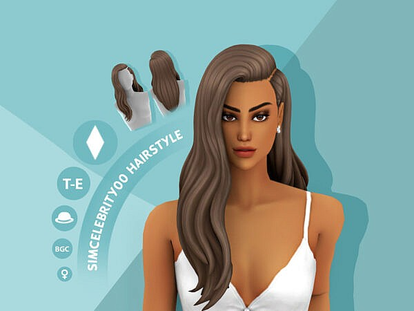Diana Hairstyle by simcelebrity00 ~ The Sims Resource for Sims 4
