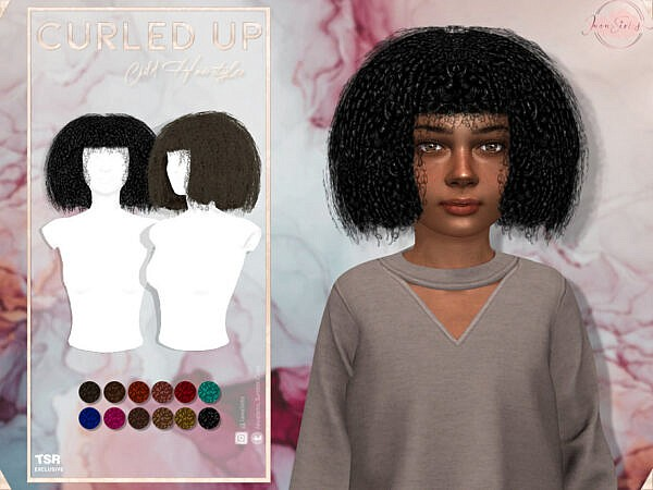 Curled Up Child Hairstyle by JavaSims ~ The Sims Resource for Sims 4