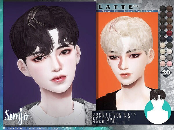 Latte Hairstyle by KIMSimjo ~ The Sims Resource for Sims 4