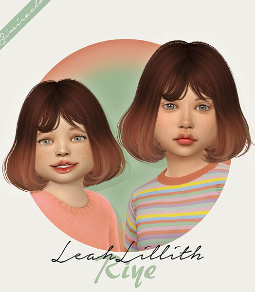 LeahLillith Riye hairstyle kids & toddlers ~ Simiracle for Sims 4