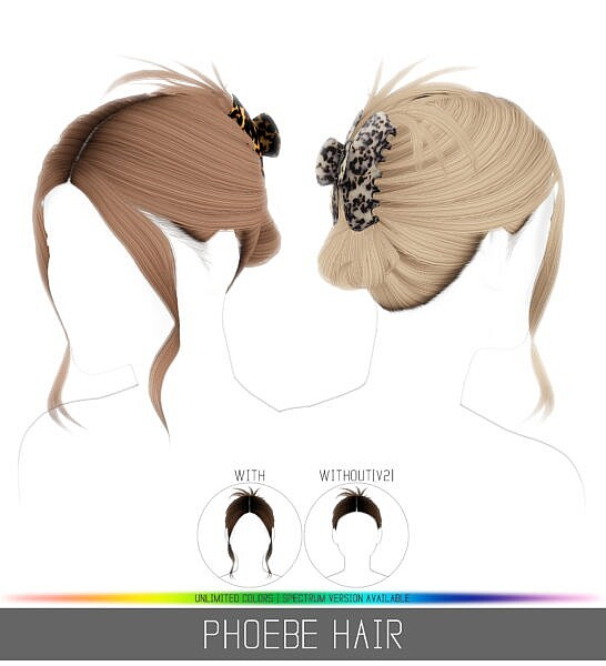 Phoebe Hair ~ Simpliciaty for Sims 4