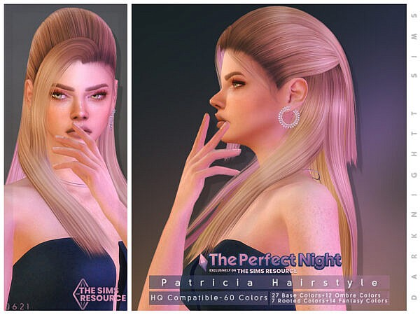 Patricia Hairstyle by DarkNighTt ~ The Sims Resource for Sims 4