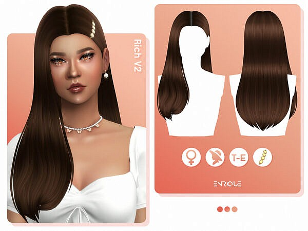 Rich Hairstyle Enriques4 ~ The Sims Resource for Sims 4