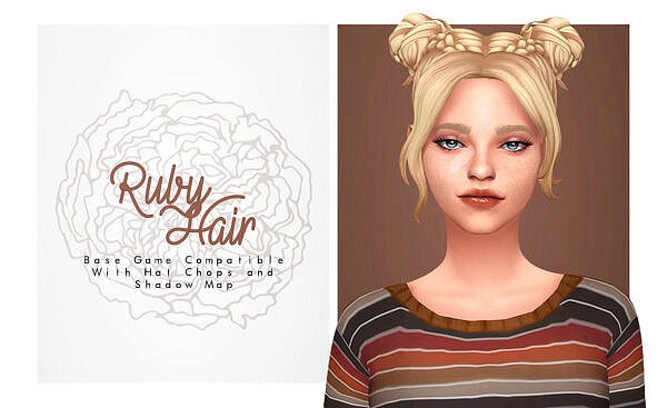 Ruby Hair ~ Isjao for Sims 4