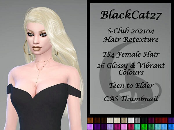 S Club 202104 Hair Retextured by BlackCat27 ~ The Sims Resource for Sims 4