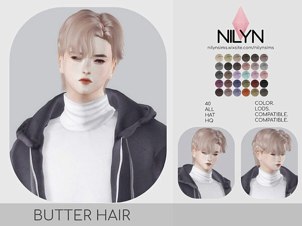 BUTTER HAIR ~ Nilyn Sims 4 for Sims 4