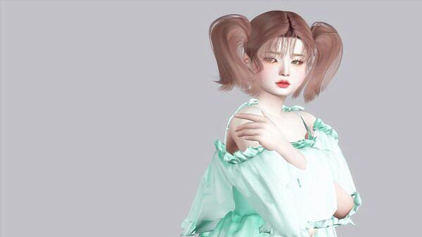 CHUBBY HAIR ~ Nilyn Sims 4 for Sims 4