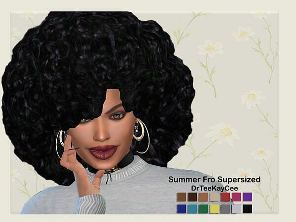 Summer Fro Supersized by drteekaycee ~ The Sims Resource for Sims 4