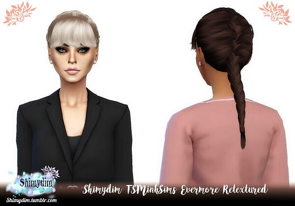 Tsminh`s Evermore Hair retextured ~ Shimydim for Sims 4