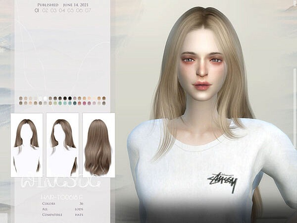 WINGS TO0613 hair ~ The Sims Resource for Sims 4