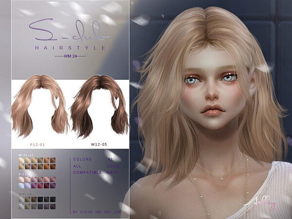 WM Hair 202124 by S Club ~ The Sims Resource for Sims 4
