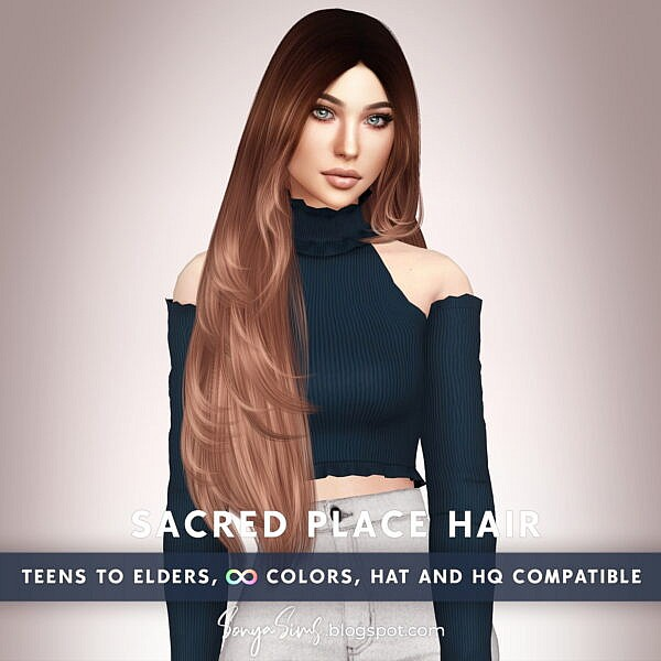 Sacred Place Hair ~ Sonya Sims for Sims 4