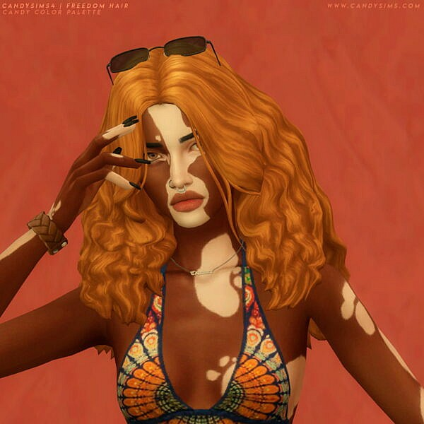 Freedom Hairstyle ~ Candy Sims 4 for Sims 4