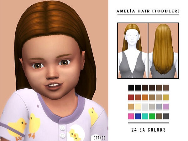 Amelia Hair Toddler by OranosTR ~ The Sims Resource for Sims 4