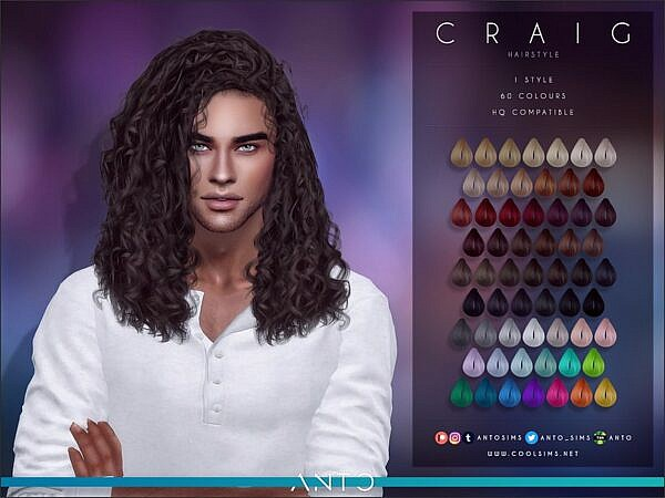 Craig Hairstyle by Anto ~ The Sims Resource for Sims 4