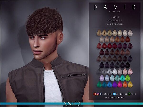 Anto`s David Hair ~ The Sims Resource for Sims 4