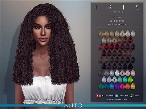 Anto`s Iris Hairstyle ~ The Sims Resource for Sims 4