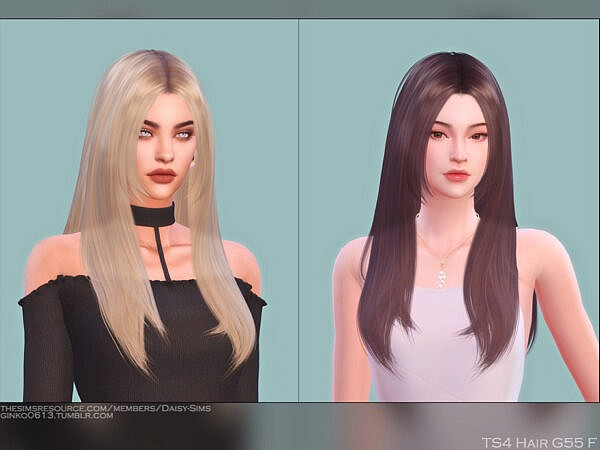 DaisySims Hair G55 ~ The Sims Resource for Sims 4