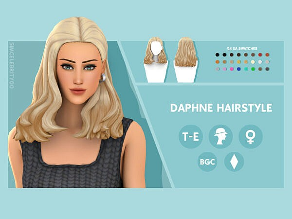 Daphne Hairstyle by simcelebrity00 ~ The Sims Resource for Sims 4