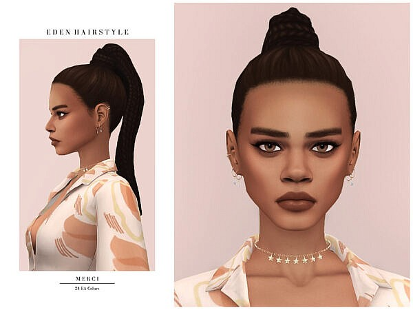 Eden Hair by Merci ~ The Sims Resource for Sims 4