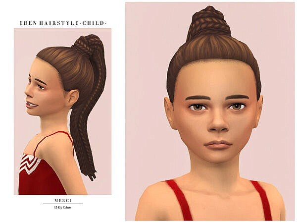 Eden Hairstyle Child by Merci ~ The Sims Resource for Sims 4