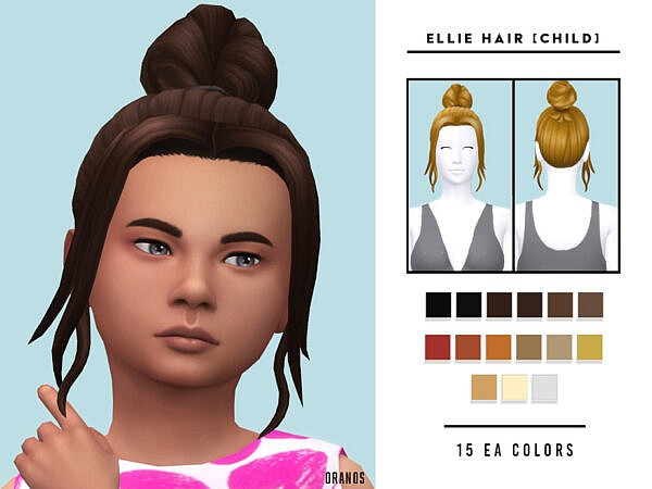 Ellie Hair Child by OranosTR ~ The Sims Resource for Sims 4