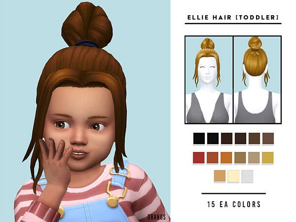 Ellie Hair Toddler by OranosTR ~ The Sims Resource for Sims 4