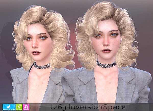 J263 Inversion Space Hair ~ NewSea for Sims 4