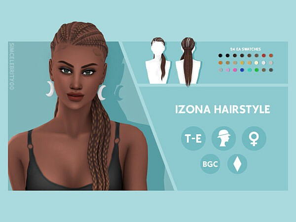 Izona Hairstyle by simcelebrity00 ~ The Sims Resource for Sims 4