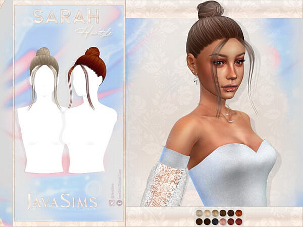 JavaSims  Sarah Hairstyle ~ The Sims Resource for Sims 4
