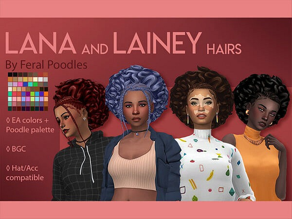 Lainey Hair by feralpoodles ~ The Sims Resource for Sims 4