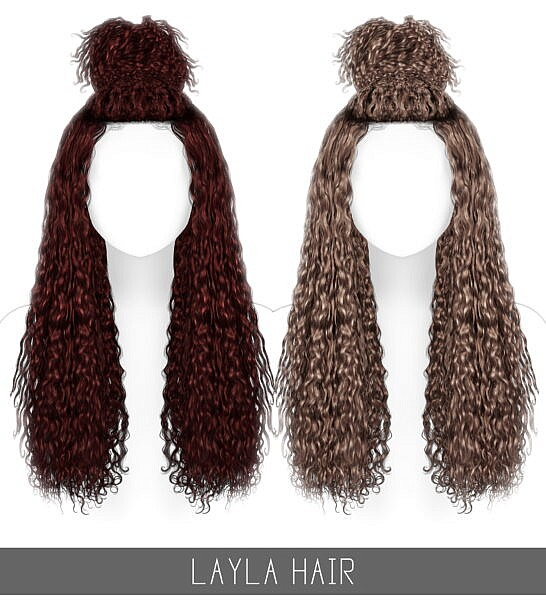 Layla Hairstyle ~ Simpliciaty for Sims 4