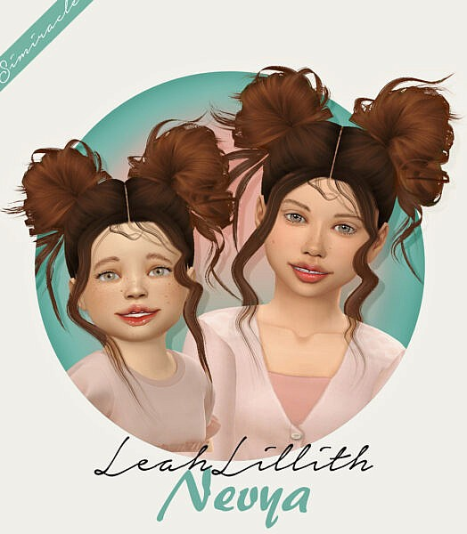 LeahLillith`s Nevya Hair Retextured ~ Simiracle for Sims 4
