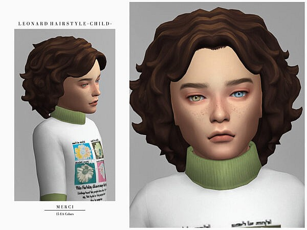 Leonard Hairstyle Child by Merci ~ The Sims Resource for Sims 4