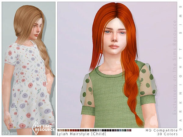 Lylah Hairstyle Child by  DarkNighTt ~ The Sims Resource for Sims 4