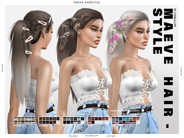 Maeve Hairstyle by Leah Lillith ~ The Sims Resource for Sims 4