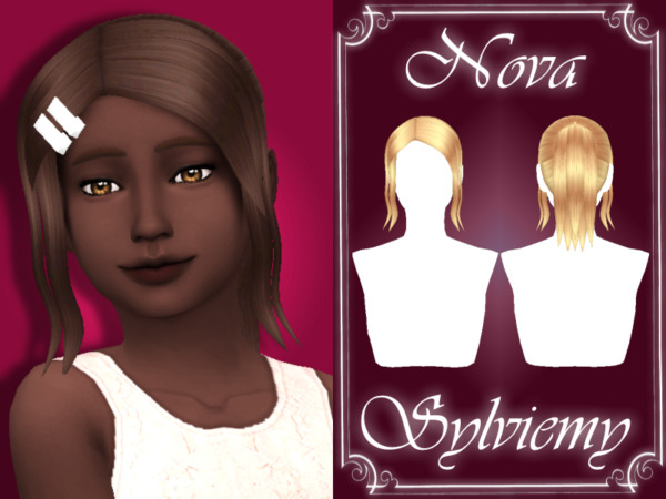 Nova Hairstyle Set Chuld by Sylviemy ~ The Sims Resource for Sims 4