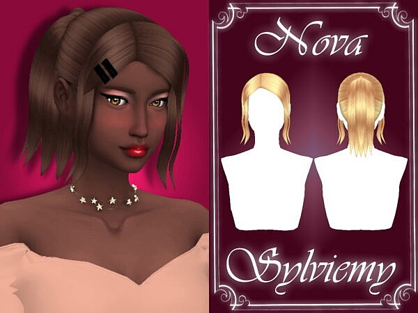 Nova Hairstyle Set by Sylviemy ~ The Sims Resource for Sims 4