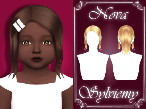 Nova Hairstyle Set TG by Sylviemy ~ The Sims Resource for Sims 4
