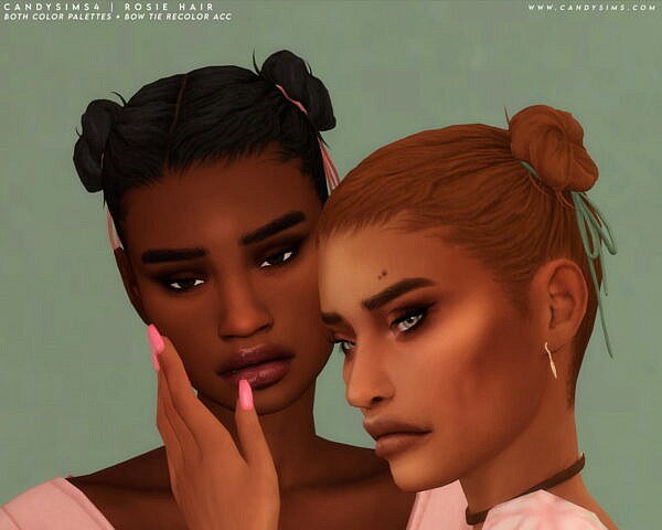 Rosie Hairstyle ~ Candy Sims 4 for Sims 4