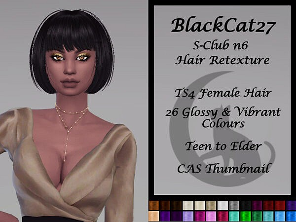 S Club`s N66 Victoria Hair Retextured by BlackCat27 ~ The Sims Resource for Sims 4