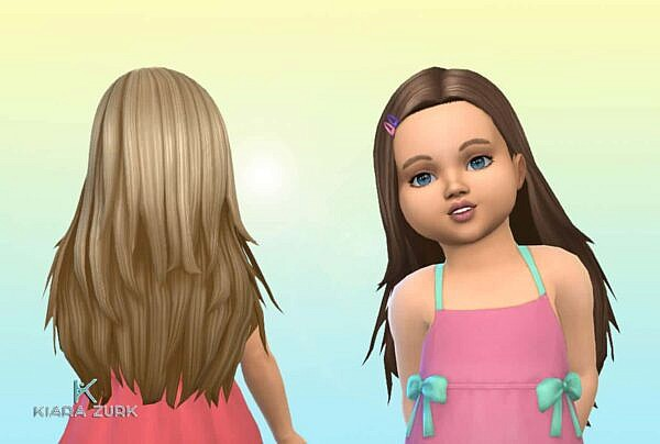 Monica Hairstyle for Toddlers + Clips ~ Mystufforigin for Sims 4