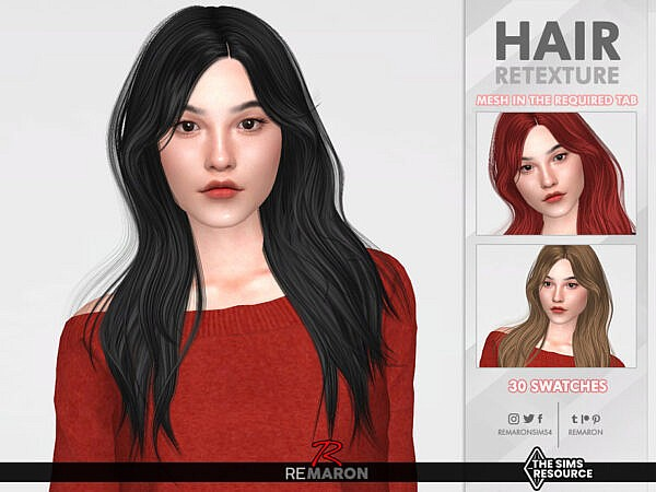 Tessa Hair Retextured by remaron ~ The Sims Resource for Sims 4